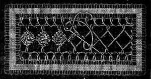 Fig. 718. INSERTION WITH EMBROIDERED SQUARES.