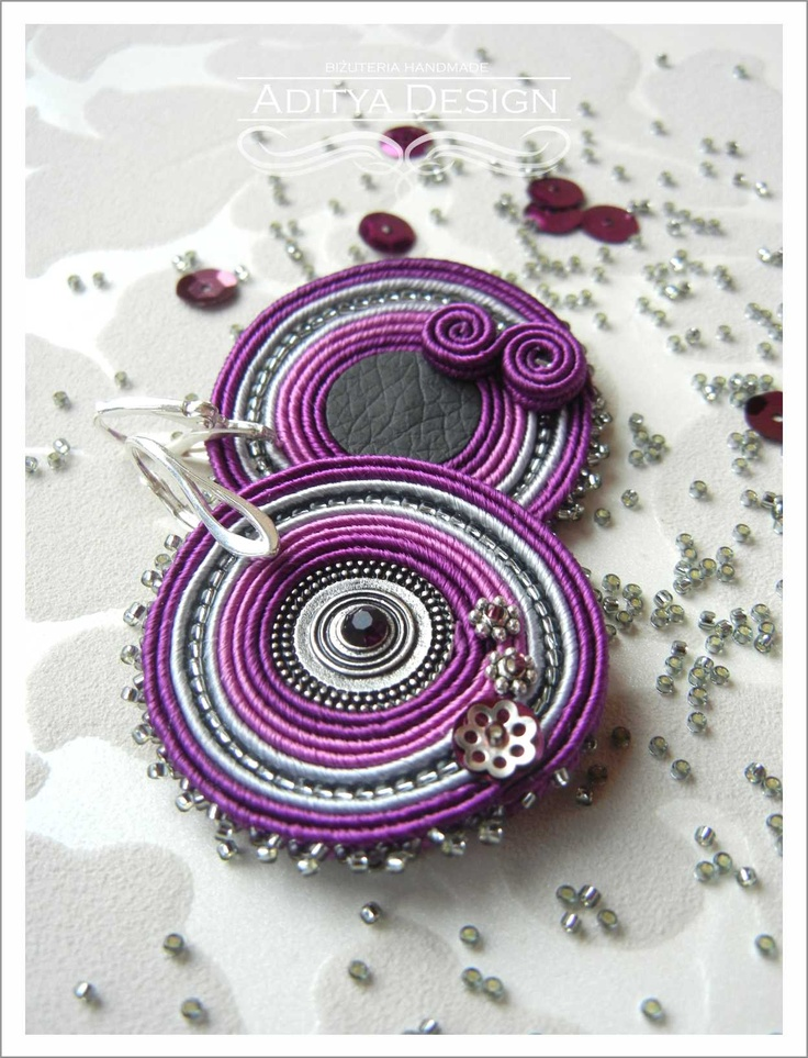 Indali Model - soutache earrings