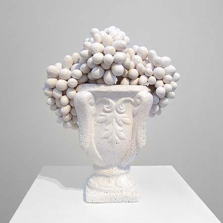 Sculpture / Ken   Julia Yonetani, [Courtesy of Artereal Gallery, Sydney], 'Urn of Grapes' 2011, Murray River salt, 74.5cm x 33cm diameter, edition of 3