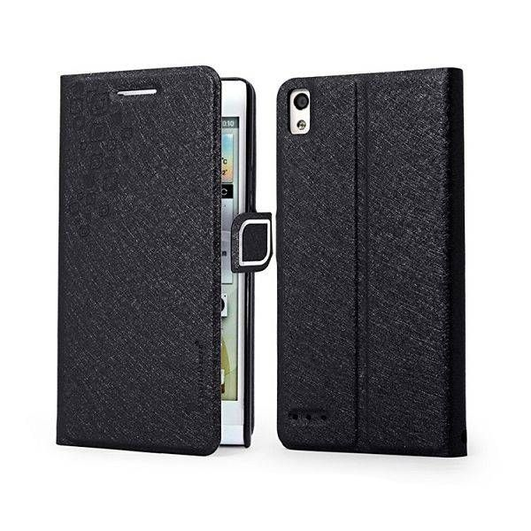 HelloDeere bookcase hoesje zwart voor Huawei Ascend P6