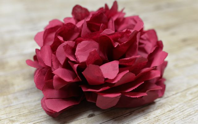 How to make Tissue Paper Flowers Four Ways #diy