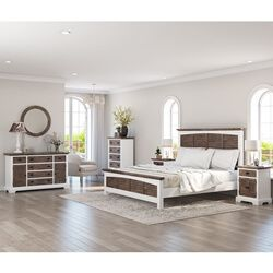 Best Danville Teak And Mahogany Wood Modern 5 Piece Bedroom Set 400 x 300