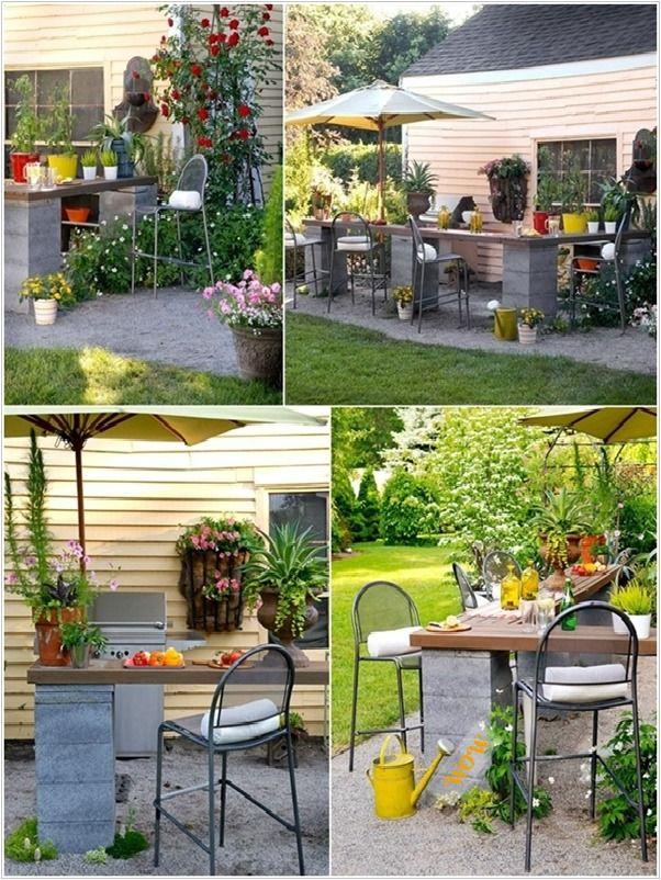 Diy Cinder Block Home Garden Decoration Ideas Outdoor Kitchen