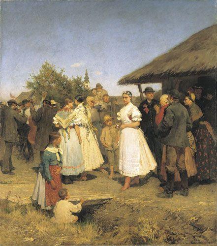 Deák-Ébner, Lajos Bridal Procession  1888