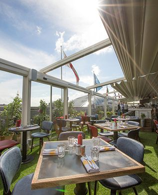 Chill out after a hard day shopping at this stunning rooftop restaurant and tuck into glorious plates of grilled cheese and maple bacon sandwiches. Read more here.