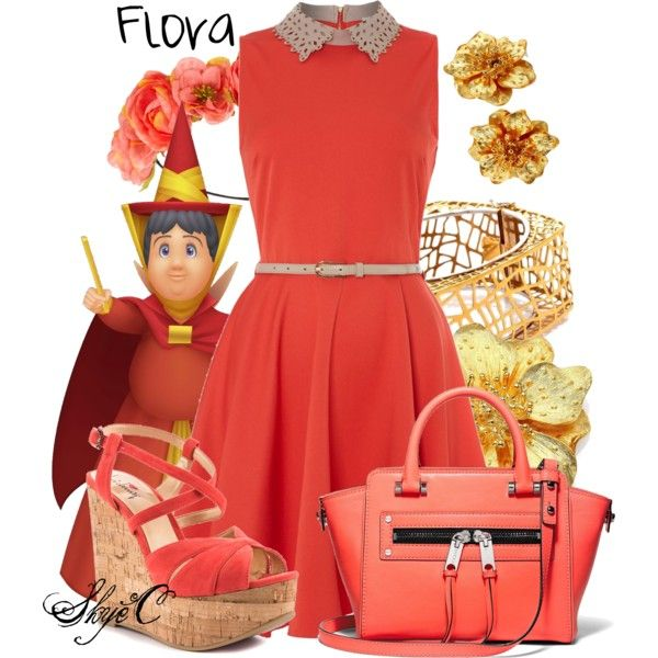 """Flora - Disney's Sleeping Beauty"" by rubytyra on Polyvore"