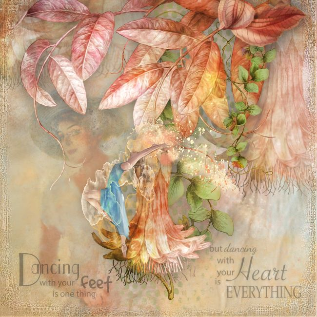 ***********Dancing Flowers********** A beautiful new kit by Lynne Anzelc designs, Faded Dreams with matching wordart https://www.oscraps.com/shop/Faded-Dreams.html © Inadigital Art2017.