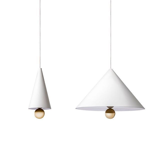 #DanielTo and #EmmaAiston formed their design studio @daniel_emma in 2008. Their aim was to create designs that are 'just nice', while drawing inspiration from #Australia's varied cultural influences.  The #Cherrylight is a #minimalist #pendant #light designed in #2015. Inspired by erasers of icecream sundaes that they collected as children, this light features the cherry-like sphere on the bottom.  The #light is available in white with a #gold #sphere, or black with a rainbow #plexiglass…