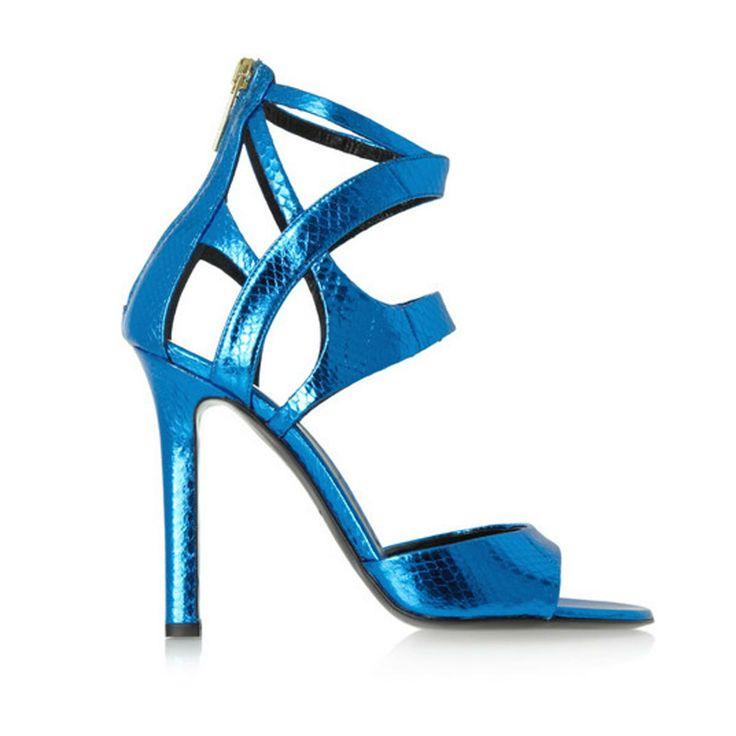 Love Love Love Tamara Mellon's Metallic blue shoes