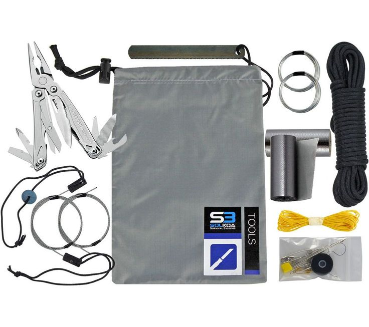 Survival Kit Pro Module: Tools with Leatherman Wingman Multitool - SOLKOA Survival Systems from 5col Survival Supply