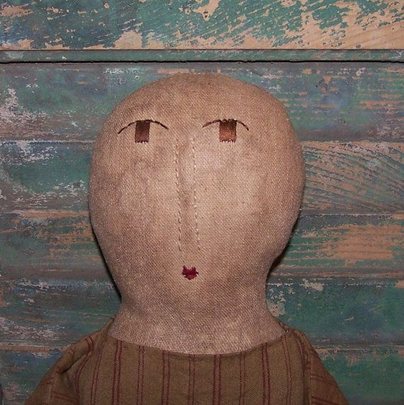 Early American Doll, handmade by Prairie Primitives Folk Art.