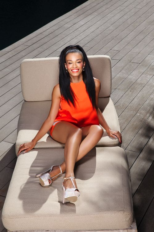 Pearl Thusi   Describe your style in five words.  'Simple, strong, fun, African, timeless.'