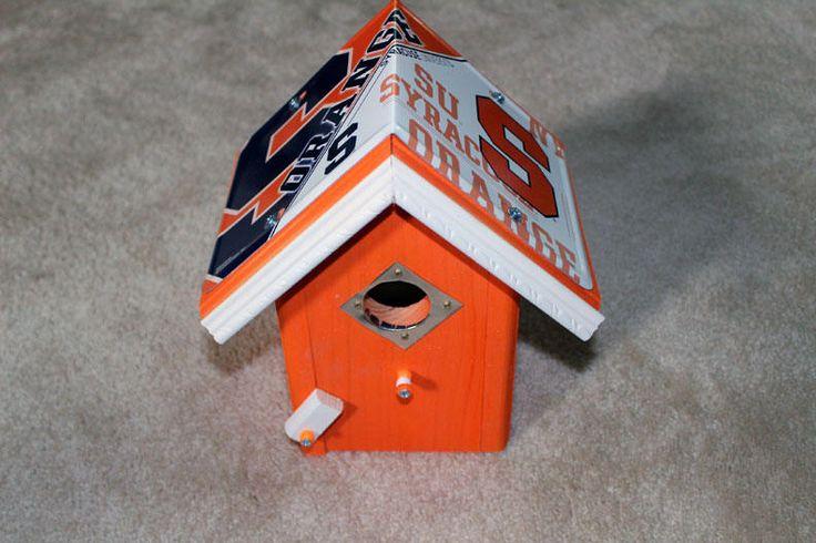 Syracuse Orangemen -University of Syracuse NCAA - License Plate Birdhouse - Bird House - Housewarming Gift by FurTheBirds on Etsy