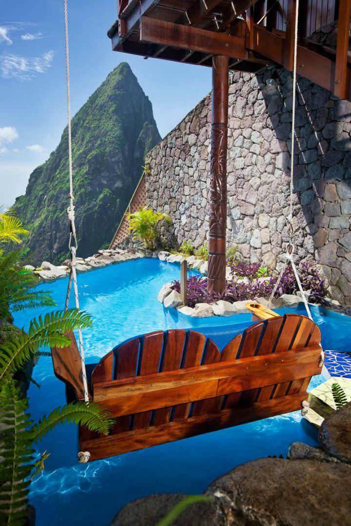 Ladera St. Lucia Resort swimming pool
