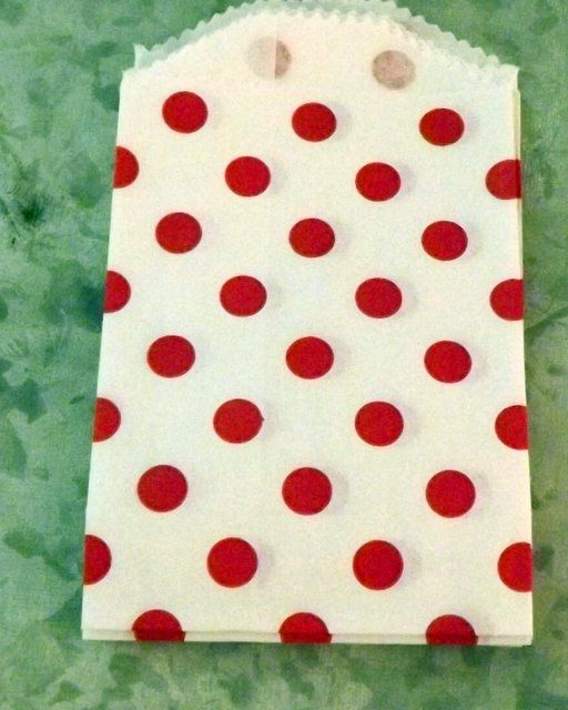 Red Polka Dot Little Bitty Bags