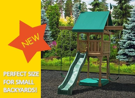 17 best images about playsets for small yards on pinterest traditional small yards and cedar - Youtube small spaces set ...