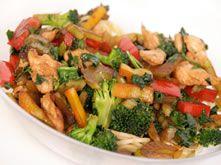 gewokte kip met groentjes