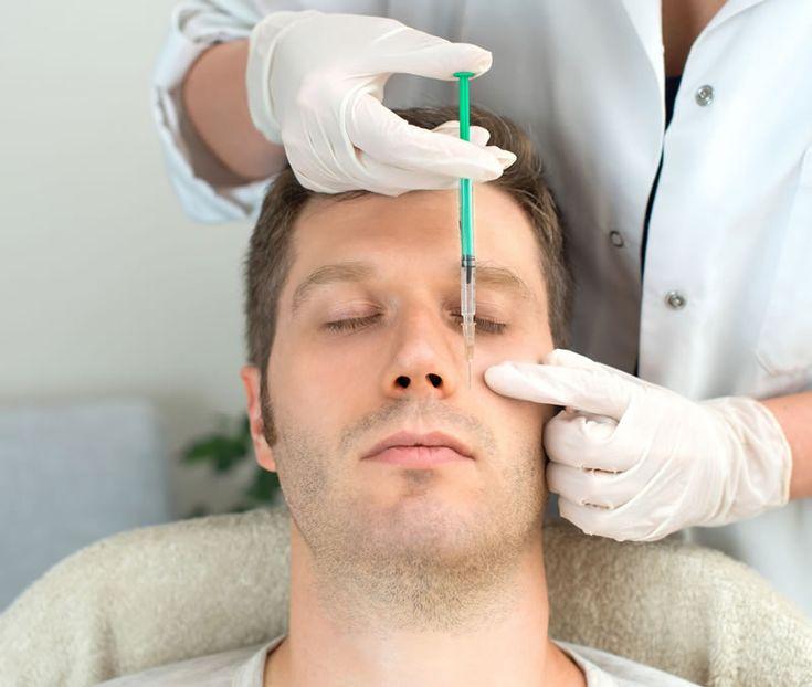 Bótox procedimiento no quirúrgico para hombres