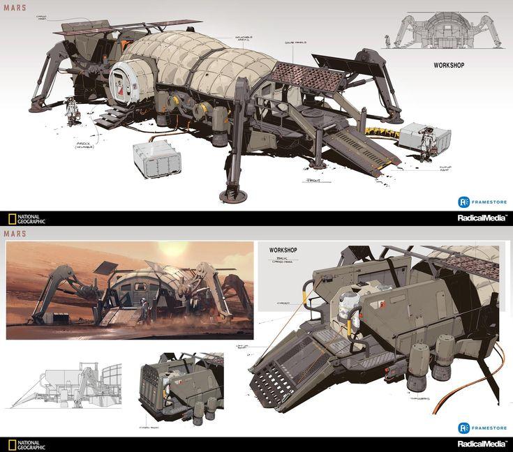 Mars by oscar cafaro futuristic design