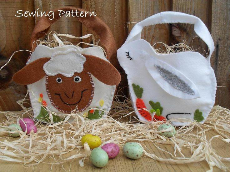 22 best easter sewing patterns images on pinterest easter ideas 9 name sewing easter bunny and sheep felt basket negle Gallery