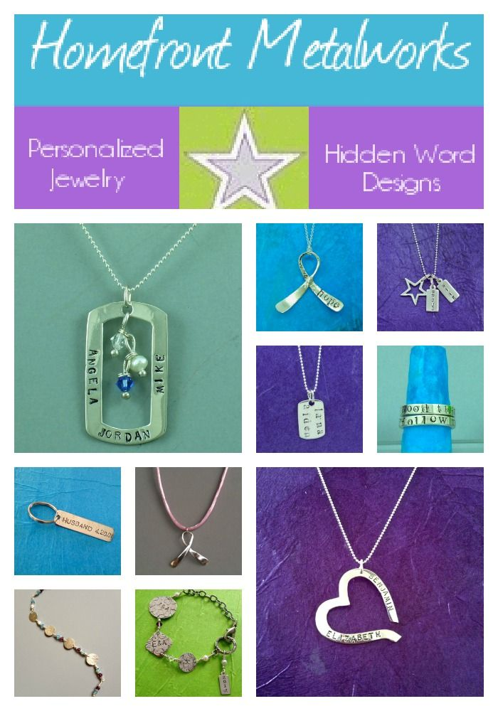 Homefront Metalworks - Personalized jewelry made by a military spouse. #jewelry #Militaryspouse