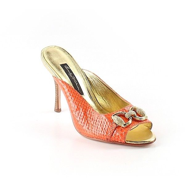 Pre-owned Beverly Feldman Mule/Clog Size 7 1/2: Orange Women's Shoes ($26) ❤ liked on Polyvore featuring shoes, clogs, orange, mule clogs, clogs footwear, mules clogs shoes, beverly feldman and clog mules