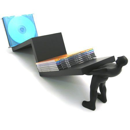 Show off your CD/DVDs with this #Macho Man CD/DVD Holder. The Holder features a human figurine showing off his ability to painlessly hold up your belongings with...