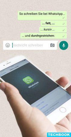 Kursiv, gefettet oder durchgestrichen – mit ein paar Zeichen kann der Nachrichtentext bei WhatsApp formatiert werden. Einzelne Wörter oder ganze Textpassagen können dadurch hervorgehoben, der Text noch besser gestaltet werden. TECHBOOK verrät, wie das ganz einfach funktioniert.