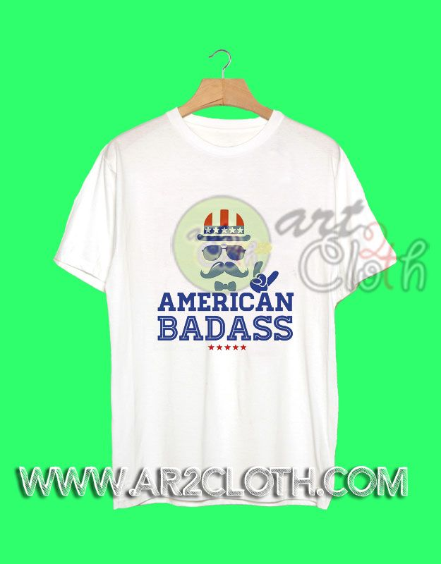 American flag Badass Independence Day T Shirt //Price: $12 //     #Trendfashion