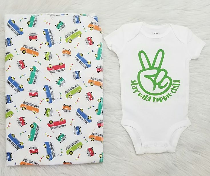 Stay Wild Hippie Child™ is the perfect set for every hippie gypsy kiddo. Our handmade 40x32 bus flannel baby swaddle blanket & our signature peace sign baby bodysuit set is perfect for every laid back babe! Use code ADORABLE to save! Free shipping in the USA.