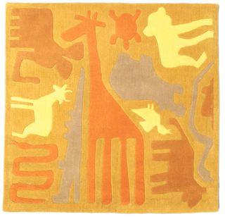 Safari Handtufted - Orange matta 120x120