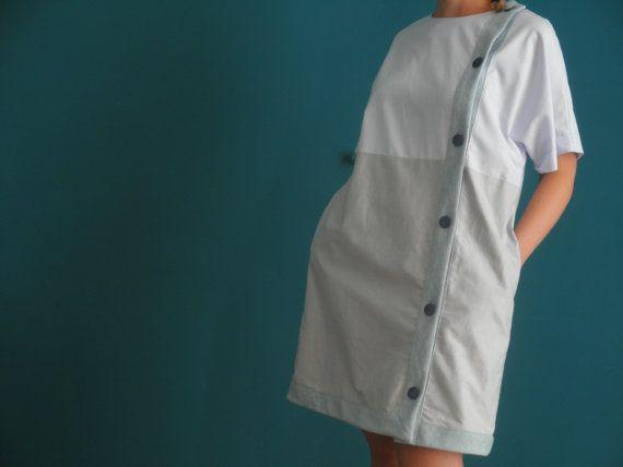 daytime asymmetrical losse fitting shirt dress