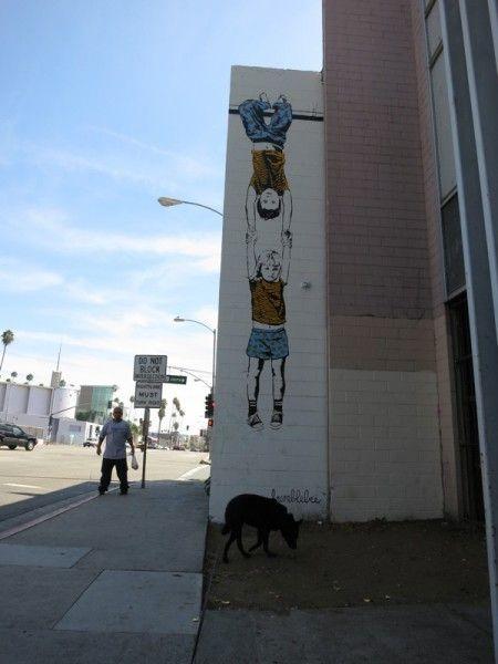 Street artist Bumblebee