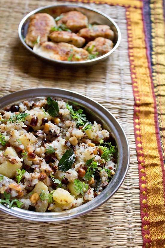 sabudana khichdi - an indian delicacy made with tapioca pearls, vegan & gluten free #sabudanakhichdi #sabudana #khichdi #sabudanarecipes #tapiocapearls