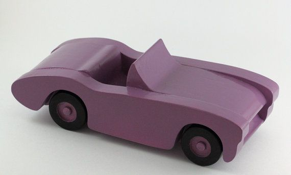 Purple Wooden Toy Car