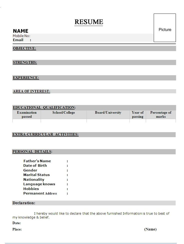 Best Resume Formats Freshers Template Ideas Templates For Mca Free Download  In India Samples Word Format  Best Resume Formats