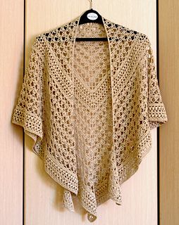 """""""Rings of lace"""". Lace crochet shawl."""