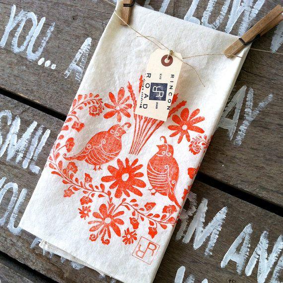 El Jardin  Organic Tea Towel by RinconRoad on Etsy, $20.00