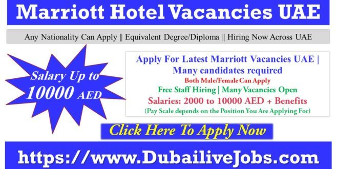 Marriott Hotel Careers Vacancies Across Uae Latest Openings 2021 Marriott Hotels Hotel Jobs Good Cv