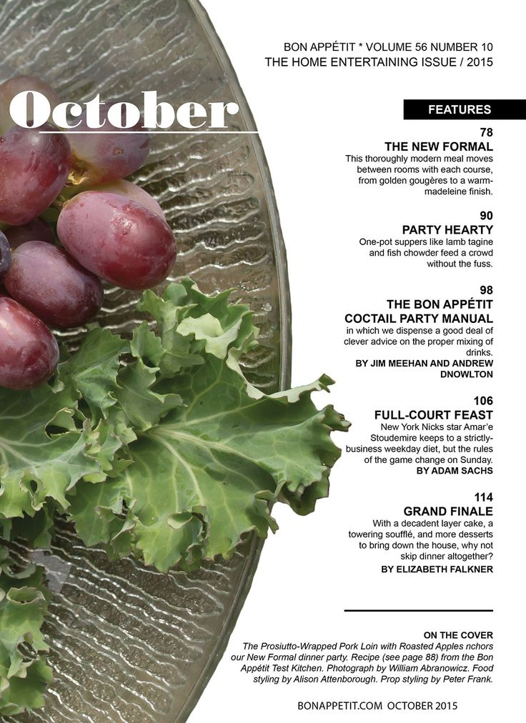 Image result for bon appetit table of contents