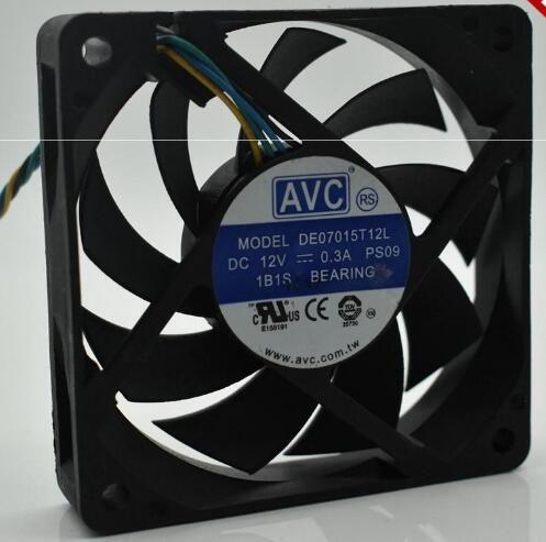Avc 7015 De07015t12l 12v 0 3a 1b1s Bearing Fan Cooling Fan