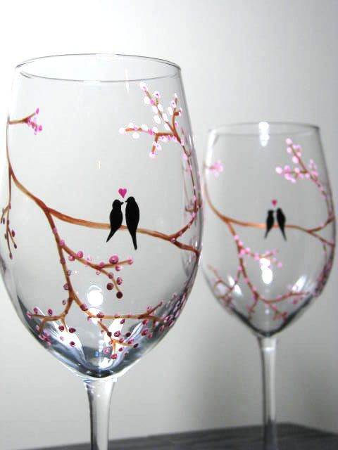 Love these...Hand Painted Wine Glasses