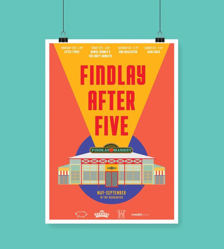 Findlay After Five Poster Design