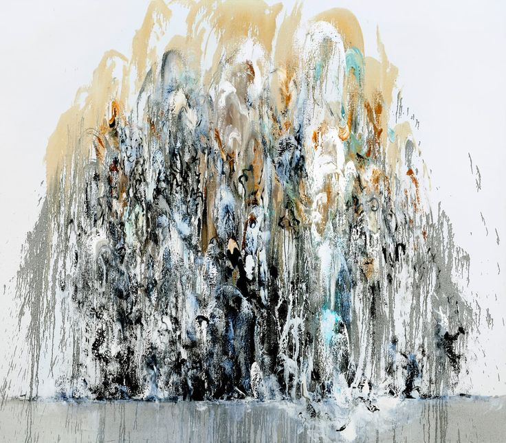 Maggi Hambling, wall of water I, 2010 A dramatic new series of paintings inspired by Hambling's experience of gigantic waves crashing onto the sea wall at Southwold.