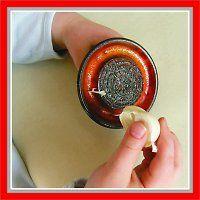 Třítko na česnek, keramika