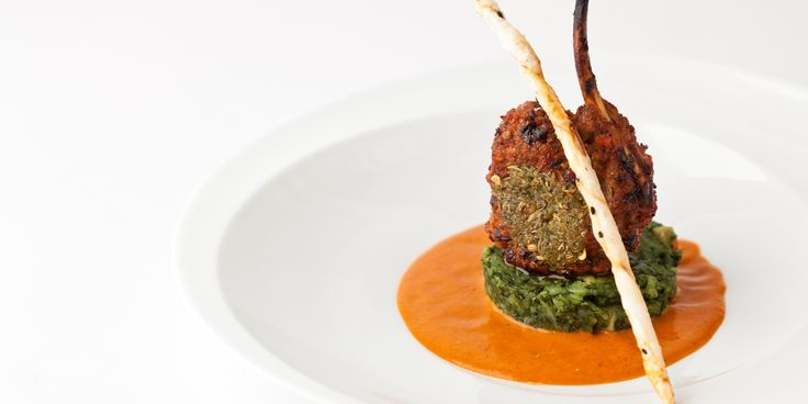 Vineet Bhatia's lamb rack recipe adds Indian flavours to lamb rack in a deliciously spiced crust. Served with spinach and potatoes, this lamb rack is superb