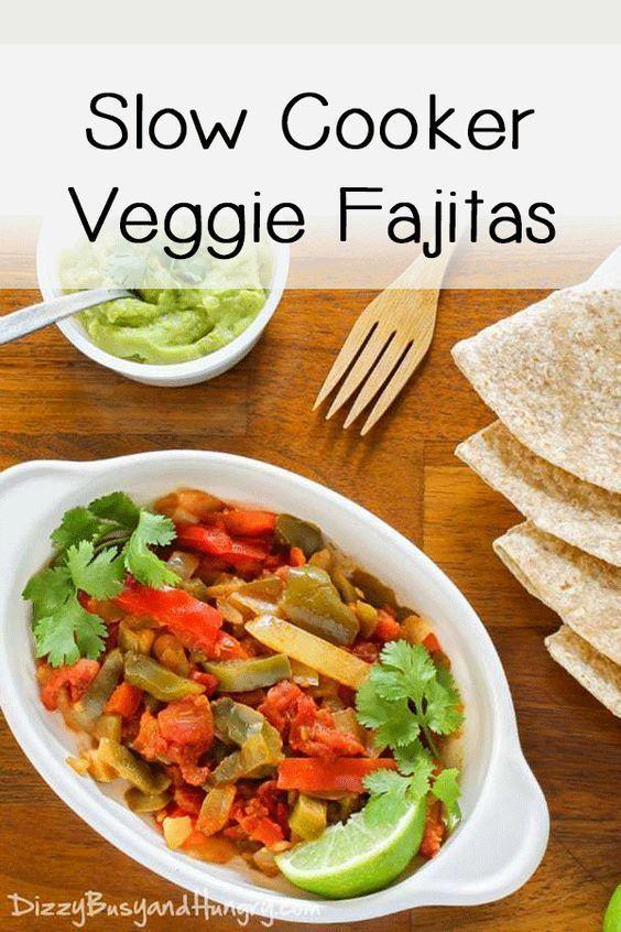 Slow Cooker Veggie Fajitas