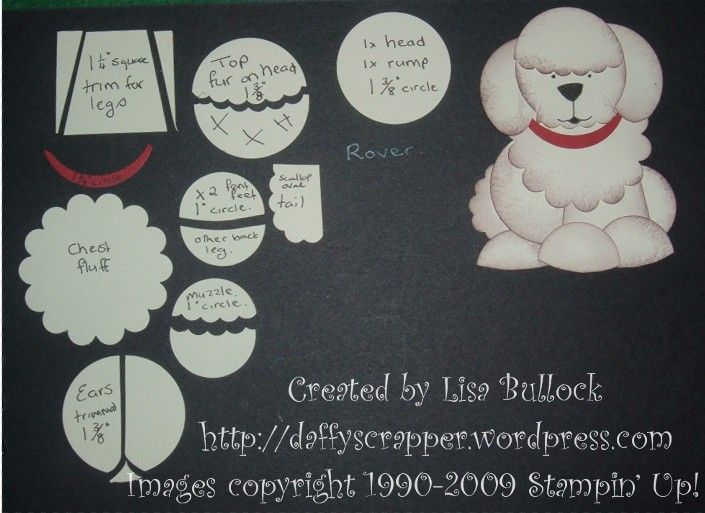 Rover the Sheepdog Punch Art Come and create like this at Amanda's BigShot-Punch Class!  Visit www.ifinallygotitright.com TODAY!