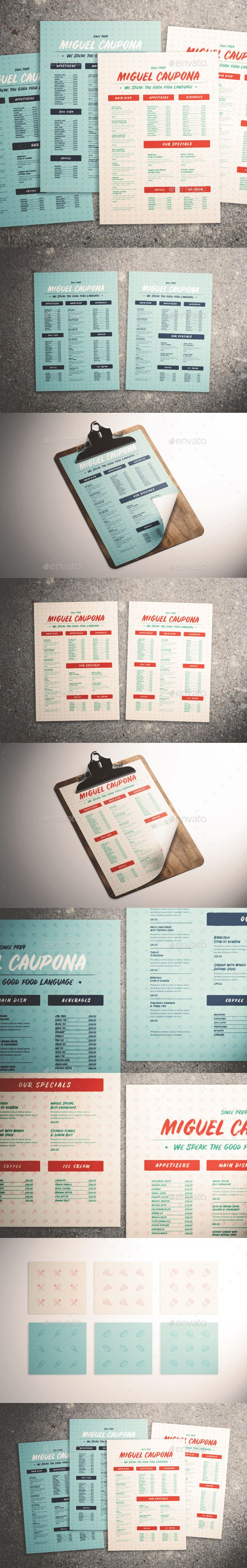 Food Menu #typography #young • Download ➝ https://graphicriver.net/item/food-menu/21330092?ref=pxcr