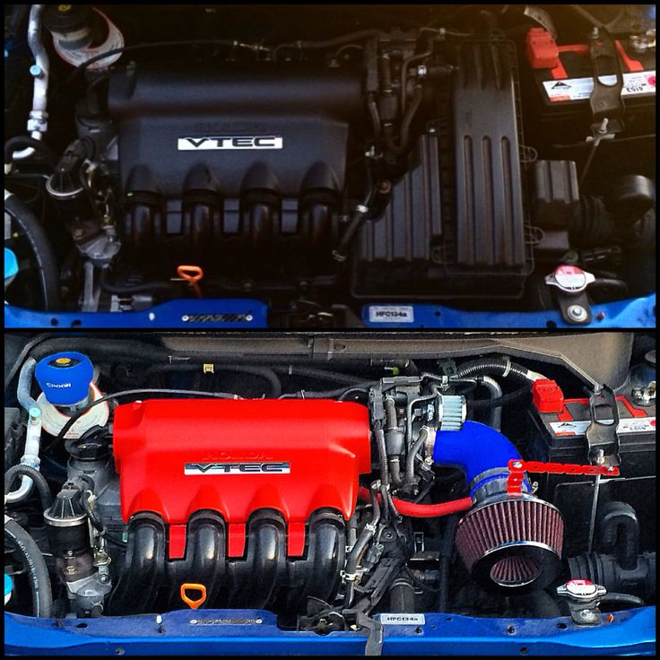 Before and after I started working on it L15A Jazz vtec